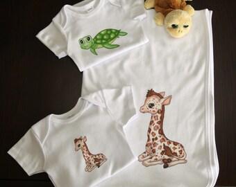 Baby Onesie and Blanket Gift Set (2 Onesies, 1 Blanket)