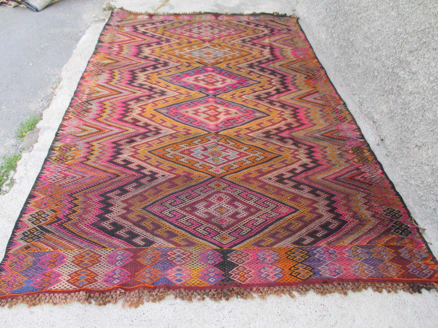 Vintage Kilim Rug Home Decor Rug Turkish Kilim Rug Multi Color