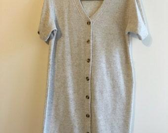 Cream Jersey Short Sleeved Dress