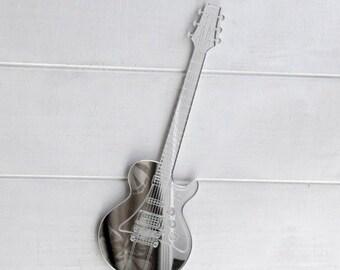 Electric Guitar Engraved Acrylic Mirror