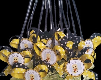 Bee Baby Shower Buzz pacifier Necklace (12) Party pack