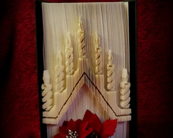 Candle Arch cut and fold book folding pattern