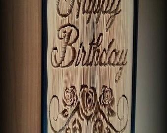 Happy Birthday Book Folding pattern