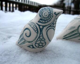 Bird. Ceramic bird dekor.