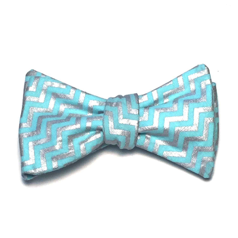 bow tie custom chevron cotton handmade handcrafted