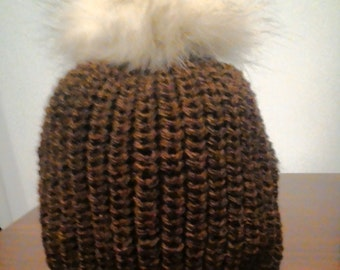 Winter warm knitted cap
