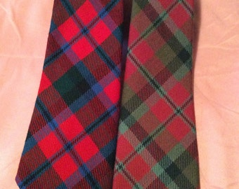 2 Locharron of Scotland Wool Tartan Neckties