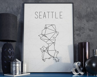 Seattle Wall Art seattle wall art | etsy