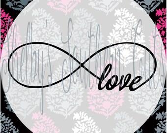 Infinity Love SVG EPS DXF digital files