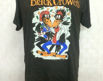 Vintage 1990 The Black Crowes Band World Tour Tshirt