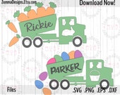 Easter svg - dump truck svg - file types. .DXF .SVG, .PNG Silhouette studio - cutting file - commercial use