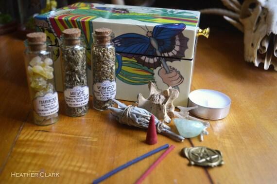 Retro Butterfly Fully Stocked Apothecary Kit OOAK