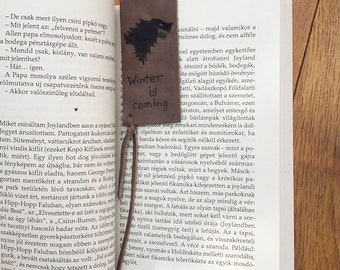 Leather quote bookmark, Game of Thrones bookmark, Winter is coming bookmark, Stark bookmark, A Song of Ice and Fire bookmark