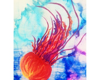 Whimsical Jellyfish Canvas