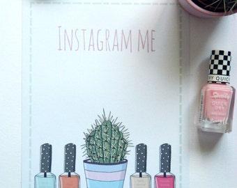 Instagram Me Print