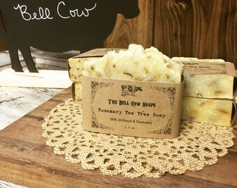 Rosemary Tea Tree Conditioning Soap, Psoriasis Soap, Psoriasis Shampoo, Tea Tree Soap, Shampoo Bar, Shampoo Soap, Rosemary Soap, Handmade So