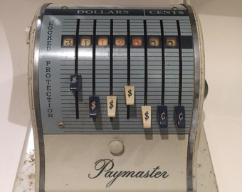 Vintage Paymaster Ribbon Writer Check Printing Machine Free US Shipping!