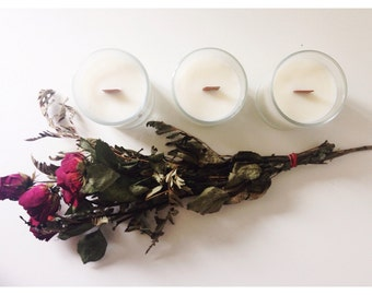 GLASS CANDLE TRIO