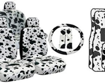 Black/White Cow Print Car Seat Covers...made for all Cars...