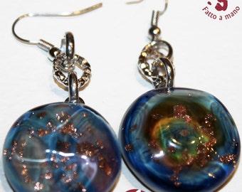 Sea eye earrings handmade Murano glass