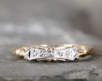Vintage 14K  Gold Wedding Band  or Anniversary Band - Circa 1950's - Retro Wedding Ring - Mid Century Band - Vintage from A Second Time
