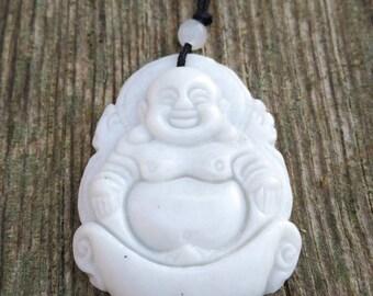 Buddha pendant white