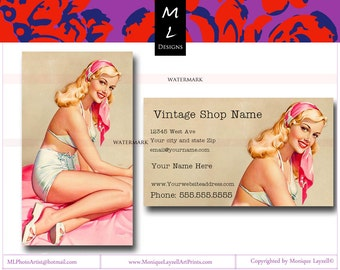 Pinup    Printable Business Cards