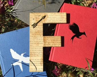 """Hunger Games 8"""" Aged Book Page Wall Letter - Custom Made"""