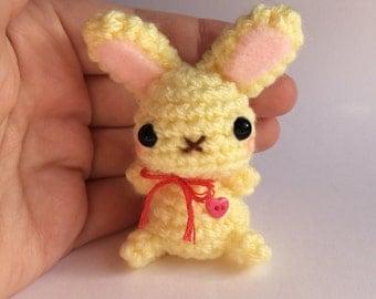Cute Amigurumi Plush Bunny - Lemon