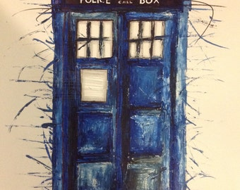 Doctor Who (2006) Tardis art print, collectable A3 poster, 11x17