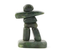 Canadian Nephrite Jade Inukshuk - 3 Sizes- Green Jade - Natural Jade