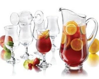 ice tea set, sangria,custom pitcher glass set