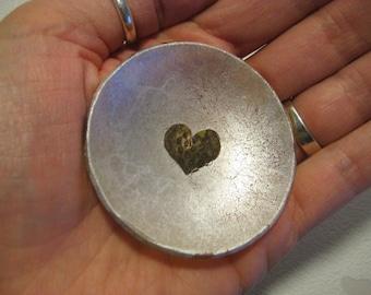 Strawberry Heart Valentine's Glass Ring Bowl