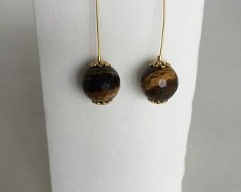Brown Gold Earrings