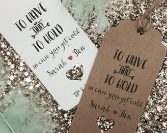 Personalised Pashmina /Scarf Gift Tag Wedding Favour Guest Label