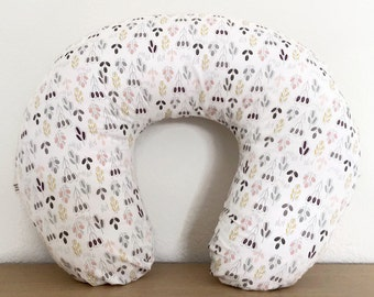 Boppy Cover Prairie Dusk -- Breastfeeding Pillow Slipcover Modern Floral