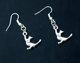 cat earrings cat Jewelry Cute earring animal earrings Cat lover gift ideas Handmade Jewelry  gift for sweet 16