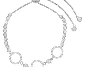 Three Circle CZ Bracelet