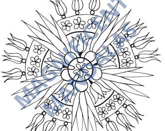 Mandalas to color  Etsy