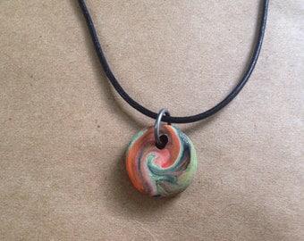 Artisan Swirl Pendant Necklace