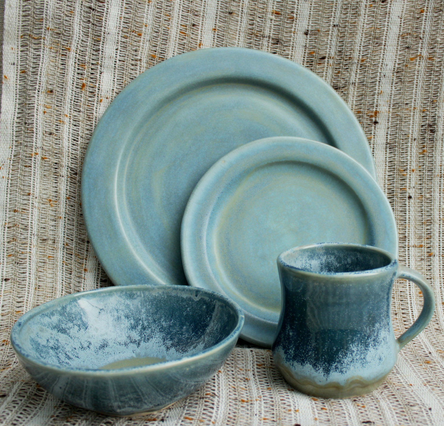 pottery dinnerware sets handmade glacier morning dinnerware set handmade stoneware pottery 274