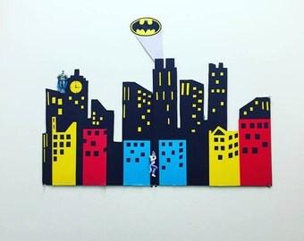 Gotham City/Superhero Skyline Backdrop