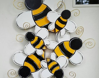 Bumblebee Cluster 3D door hang