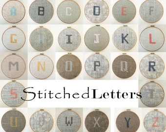 Cross Stitch Block Letter