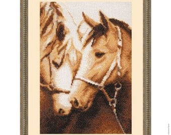 "Cross Stitch Kit by Golden Fleece - ""Devotion"""