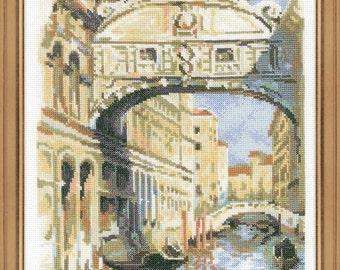 "Cross Stitch Kit by RIOLIS 1552 ""Venice. Bridge of Sighs"""