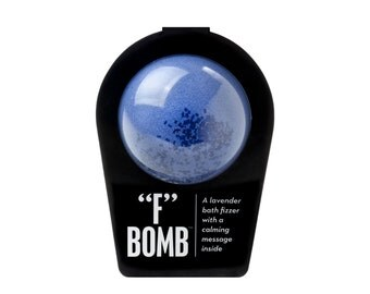 "THE ""F"" BOMB, Bath Bomb, Bath Fizzer, Bath Fizzie, Surprise Inside, Bath and Body"
