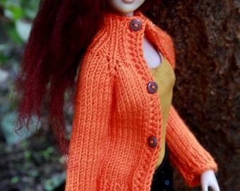 Tonner outfit - orange cardigan/sweater