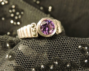 Amethyst Ring Sterling Silver