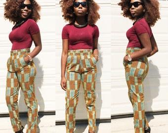 African ankara women pant African Print